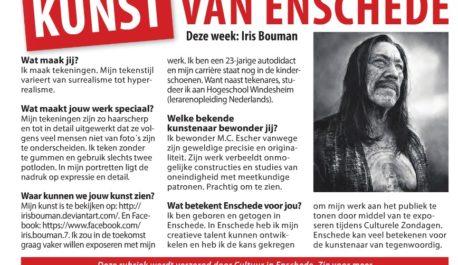 Kunst van Enschede - in de krant met je werk?