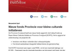 Nieuwsbrieven Cultuur in Enschede